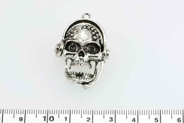 Vedhæng  skull 25 x 35 mm