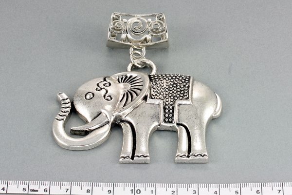 Rør med vedhæng til sjal/tørklæde Elefant