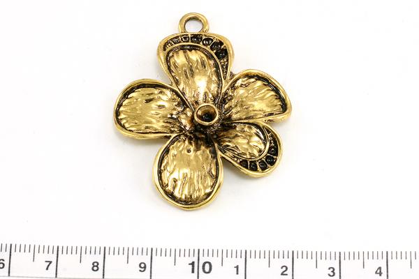 Vedhæng blomst Guld farve 52x40,5 mm