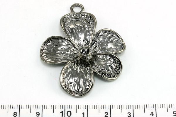 Vedhæng blomst Gunmetal 52x40,5 mm