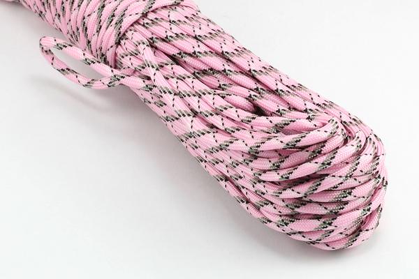 Faldskærmsline 4 mm Pink Camo