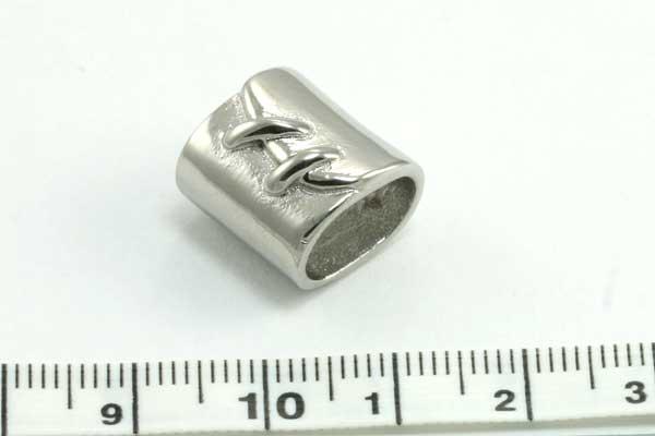 Rustfri stål led hul ca.11,5 x 7,2 mm