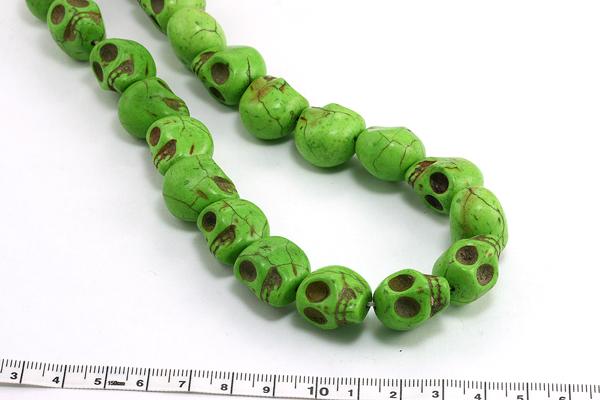 Magnesit skull grøn 14x18 mm