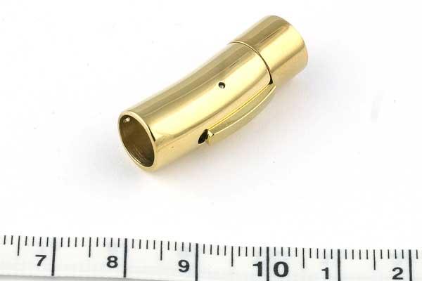 Tube lås Rustfri stål, guld, 8 mm hul