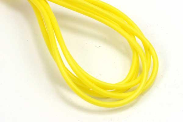 Gummisnøre 2 mm hul gul