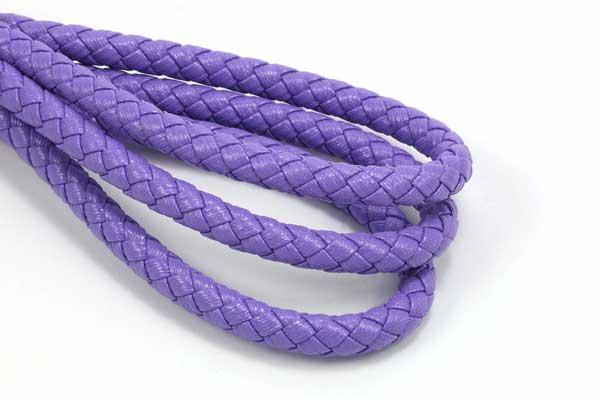 Imiteret lædersnøre Violet 6 mm