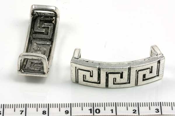 Charm hul 10x2 mm græsk mønster