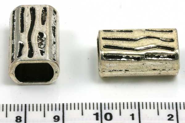 Charm hul 10x7 mm aflang