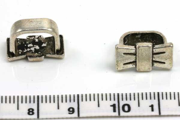 Charm hul 10x7 mm sløjfe