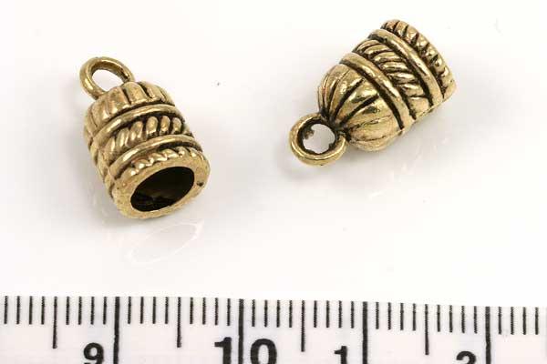 Metal perlehat antikguld 8 x 14 mm