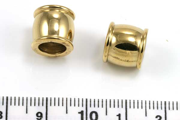 Rustfri stål led guld 6,5 mm hul