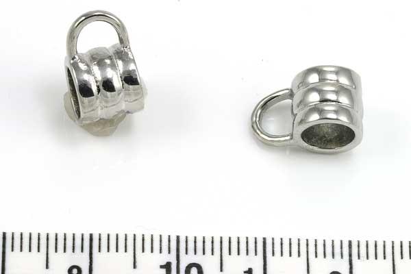 Rustfri stål led med loop 6 mm hul