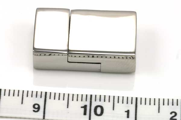 Magnetlås rustfrit stål hul 12x3 mm