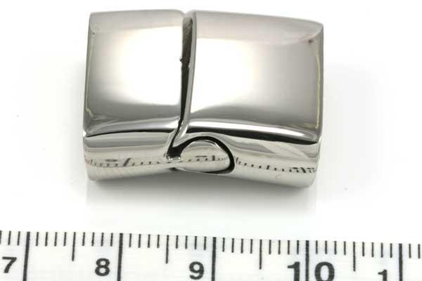 Magnetlås rustfrit stål hul 19x7 mm