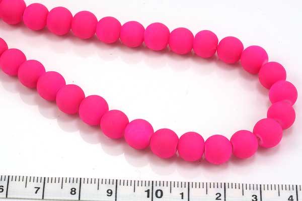 Jadeperler neon pink 10 mm