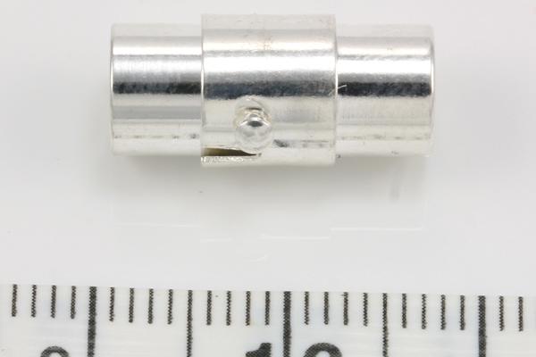 Magnet bajonet lås sølv farve 6 mm