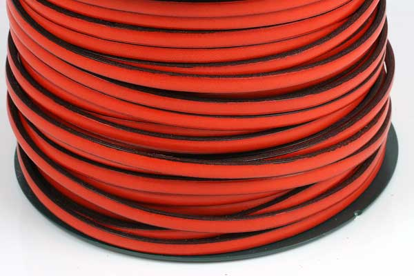 Italiensk læder 5 mm Orange