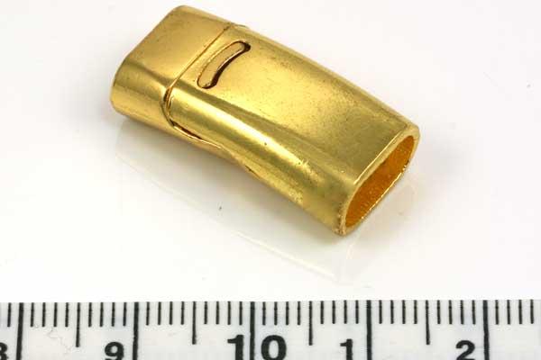 Magnetlås hul 10,5x5 mm guldfarve
