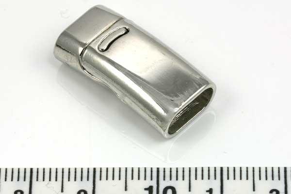 Magnetlås hul 10,5x5 mm platinfarve