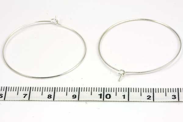Creoler ørering sølv belagt 10 par 35 mm