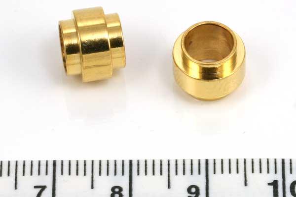 Rustfri stål led guld hul 6,5mm