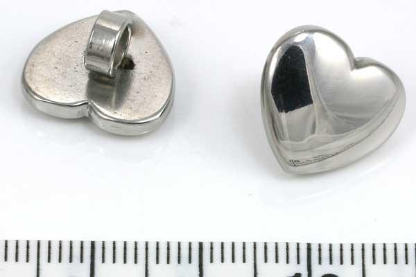 Rustfri stål charm hul 4 mm
