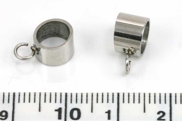 Rustfri stål led med loop hul ca.6,4 mm mm