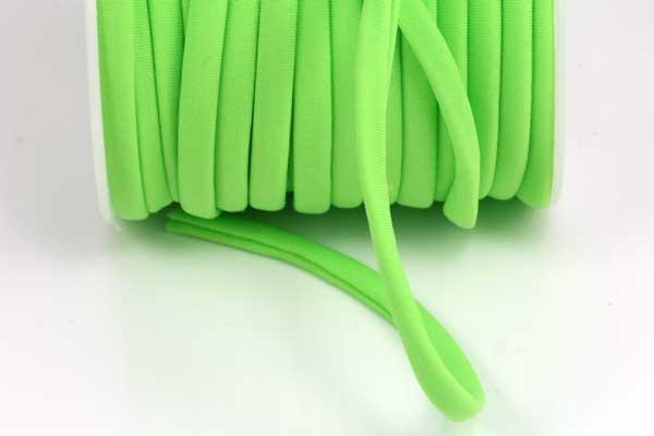 Kimonosilke 5 mm Neongrøn 0,5 m