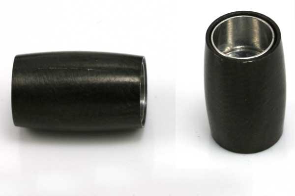 Rustfri stål lås mat sort 6 mm hul