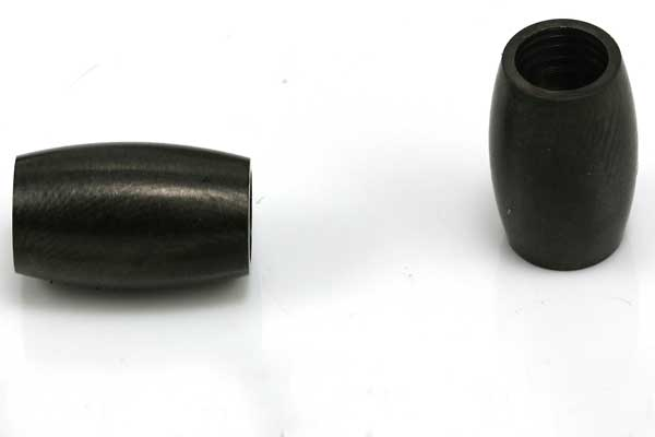 Rustfri stål lås mat sort 5 mm hul