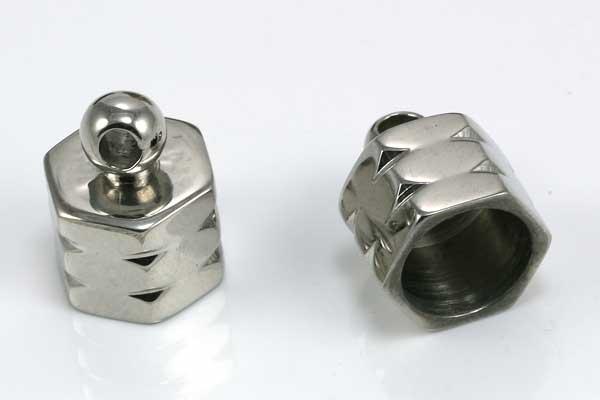 Rustfri stål enderør 8 mm hul