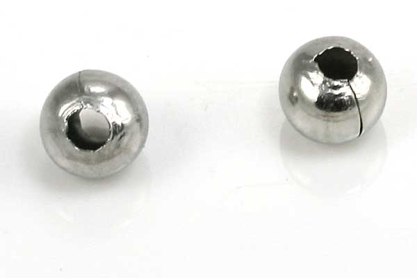 Rustfri stål perle 5 mm