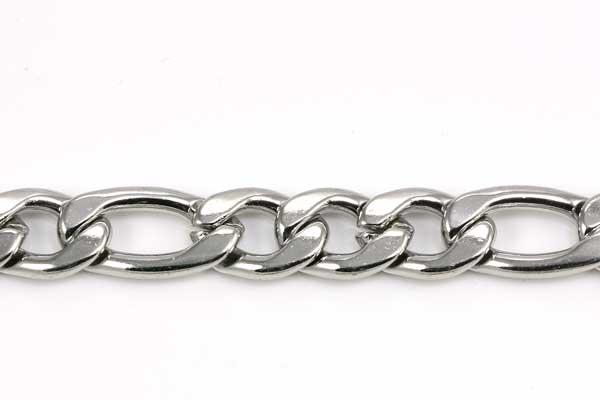 Rustfri stål figaro kæde 7 mm