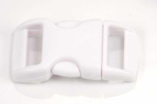 Lås til faldskærmsline hvid plastik