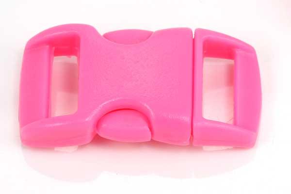 Lås til faldskærmsline pink plastik