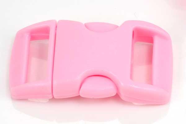 Lås til faldskærmsline lyserød plastik