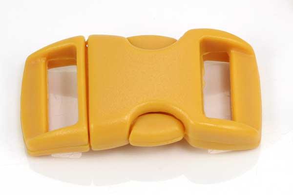 Lås til faldskærmsline sennepsgul plastik