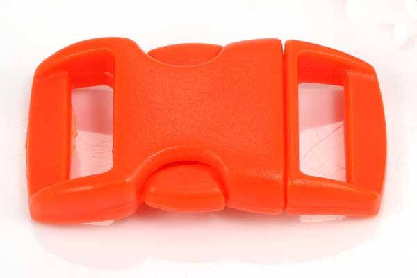 Lås til faldskærmsline lys orange plastik