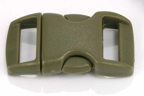 Lås til faldskærmsline mørk armygrøn plastik