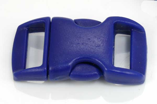 Lås til faldskærmsline mørk blå plastik