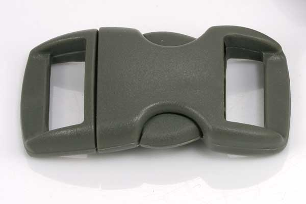 Lås til faldskærmsline mørk grå plastik