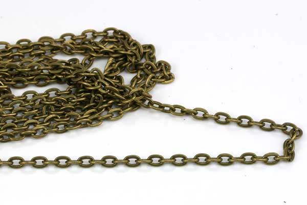 Kæde Broncefarve 3x4,5 mm