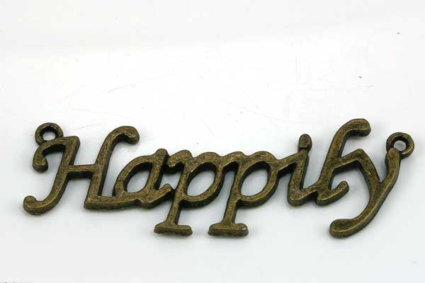 Mellemled Happy ca. 47x19 mm