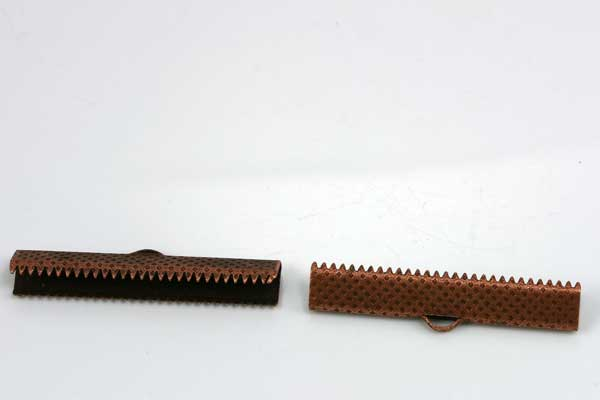 Endestykke klemme 25x8 mm kobber 10 stk