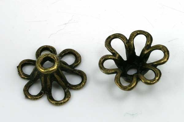 Perlehatte 12x12 mm antik bronce 20 stk