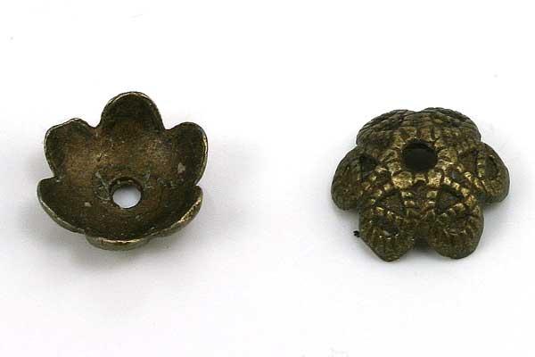 Perlehatte 9,5x9,5 mm antik bronce 20 stk