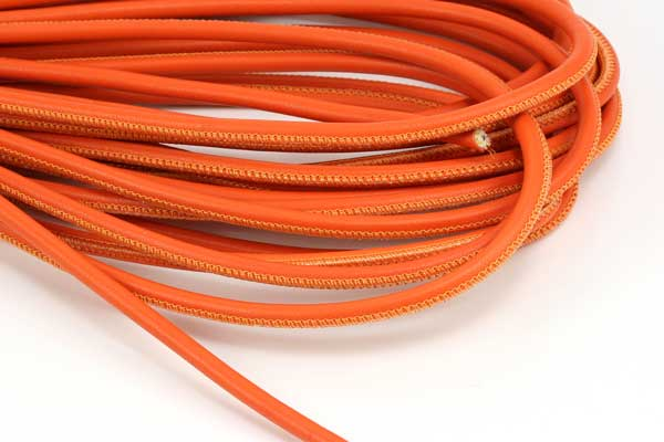 Randsyet læder 4 mm Orange 1/2 mtr