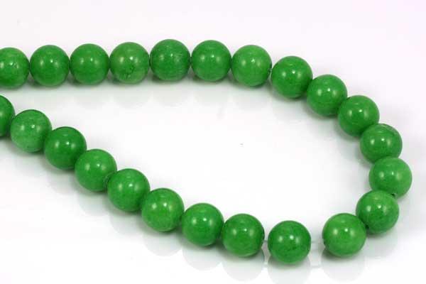 Porcelæns perler Æble grøn 8 mm