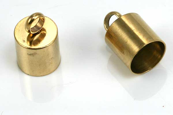 Enderør rustfrit stål 6 mm hul guldfarve