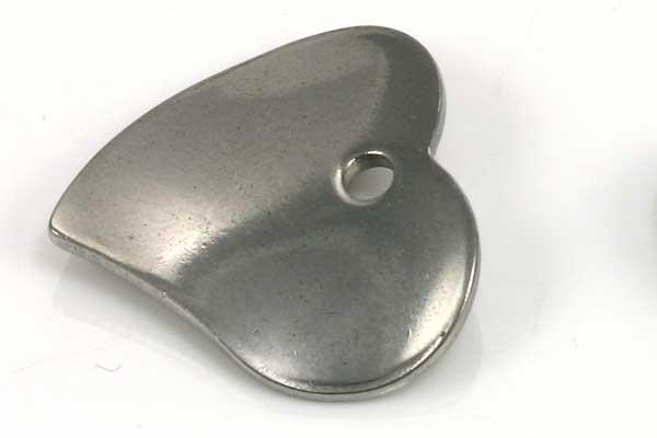 Rustfri stål hjerte vedhæng